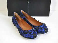 MARC BY MARC JACOBS Lace Punk Studded Mouse Ballerina Flat Blue/Black Size 6