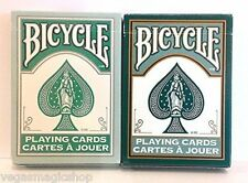 Fashion Teal & Dark Green 2 Deck Set Bicycle Playing Cards Poker Size USPCC New