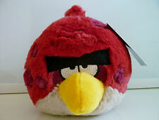 "NEW Angry Birds Plush Big Brother Terence Red Stuffed Bird Animal 5"" NWT"