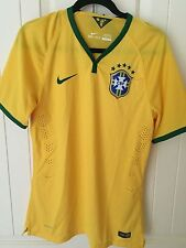 Authentic Nike Player Gold Label Sz L Brazil Home Jersey World Cup 575276-703