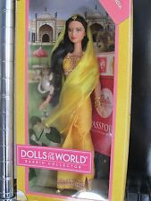 BARBIE COLLECTOR DOLLS OF THE WORLD INDIA NEVER REMOVED FROM BOX