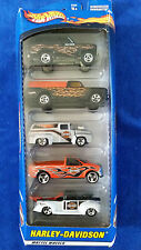 2000 HOT WHEELS 1/64 HARLEY-DAVIDSON 5-PACK GIFT SET BRONCO F-150 PANEL DELIVERY