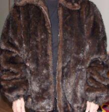 Donna Salyers Fabulous Furs faux fur zippered Jacket size ladies XL