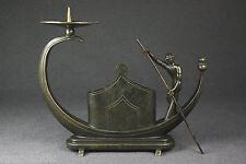 H.OTTMANN Bronzeskulptur Kerzenleuchter Gondoliere wie Hagenauer