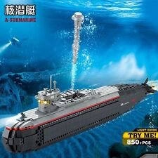 KAZI Building Blocks Nuclear Submarine Light Sound Ship Gift #84028 850pcs