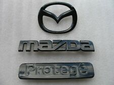 99 00 01 02 MAZDA PROTEGE BLACK BLACKOUT BLACKED OUT EMBLEM BADGE LOGO SIGN SET
