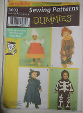 Simplicity Costume Pattern 3603 Toddlers Halloween 1/2-4yrs Uncut Discontinued