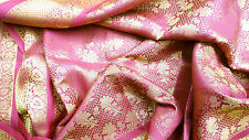 Brokat Sari exklusiv bordeaux 600cm Bollywood Saree Stoff Indien Gardine Event A