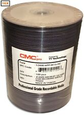 100-Pak CMC PRO (TY Technology) 16X White Inkjet Hub DVD-R w/ Scratch Protection
