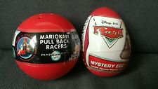 x2 Lot MARIO KART Gacha Tomy & Disney Cars Mystery Egg Toy