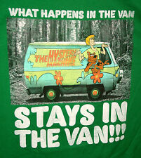 HB Scooby-Doo Mystery Machine What Happens in Stays in the VAN T-Shirt New Sz LG