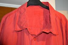 100% SILK SHORT SLEEVE Red Shirt Style Blouse X-Large SIZE 18