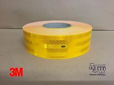 1m x 55mm Amber Yellow Conspicuity Tape ECE104 Diamond Reflective 3M Truck Lorry
