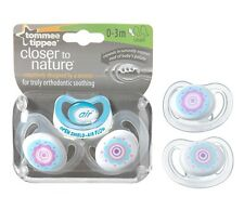 Tommee Tippee 2-Pack CTN C-Air 0-3m Soothers - Flowers Design for Girls