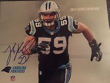 Luke Kuechly signed PSL Renewal Magazine Autographed Carolina Panthers