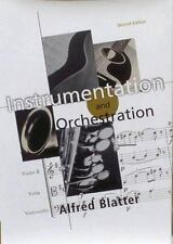 Instrumentation and Orchestration, Blatter, Alfred, Good Book