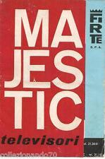 MAJESTIC TELEVISORI-DEPLIANT PUBBLICITARIO ANNI 60/70