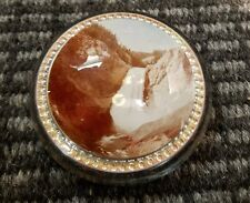 "Old/Antique Haynes Photo 4"" Paperweight of Yellowstone Falls/Yellowstone Park"