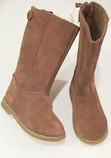 GAP Baby / Toddler Girl Size 5 US Tan / Brown Tall Riding / Suede Leather Boots