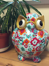Giant XXL Garden Owl Ornament Bright Colourful Unique Outdoor Decor Pomme Pidou