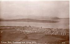Largs Bute Cumbraes Arran Hills  Air Aerial View RP old pc used 1953 Henderson