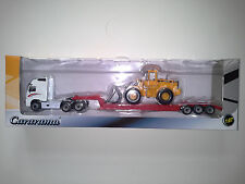 VOLVO FH12 WITH VOLVO L150C TRUCK 1:87 CARARAMA . NEW IN BOX.