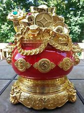 "Chinese Fengshui Money Bank Wealth Statue 13"" H"