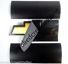 "Black Matte Vinyl Sheets - (2) 11""x5"" Sheets for Chevy Bowtie Emblems (Decal)"