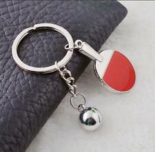 Wholesale Table Tennis KeyRing Keychain Crystal Rhinestone Key chain Collect Toy