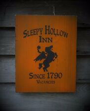 Primitive Headless Horseman Sleepy Hollow Inn Sign Halloween Fall Decoration
