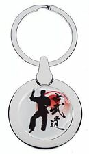 KARATE RED BELT CHROME KEYRING