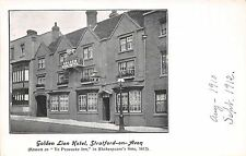 STRATFORD ON AVON UK GOLDEN LION HOTEL~YE PEACOCKE INN IN SHAKESPEARE POSTCARD