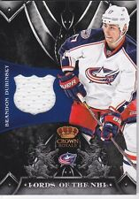 2012-2013 PANINI CROWN ROYALE HOCKEY BRANDON DUBINSKY JERSEY CARD