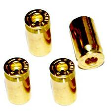 "4 Real 45 Auto ""Brass"" Bullet Air Valve Stem Caps for Cars & Trucks Wheels Rims"