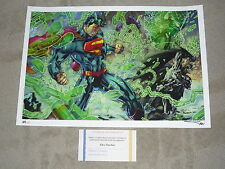 2013 LBCC JUSTICE LEAGUE ART PRINT BY JIM LEE & ALEX SINCLAIR SIGN 13x19  #xx/30
