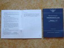 Betriebsanleitung  Tourenroller IWL Troll 1 Bedienungshandbuch NEU