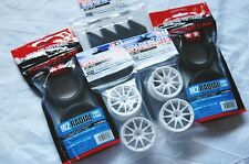 TAMIYA 1/10 RC CAR TIRE(53227)+WHEEL(50732)+INNER(53113); M2-RADIAL,SET