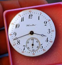 HAMILTON pocket watch movement working condition,serviced