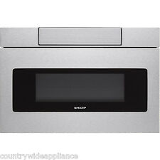 """Sharp Insight Stainless 24"""" Flat Panel Microwave Drawer LCD Display SMD2470AS"""