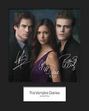THE VAMPIRE DIARIES #1 Signed Photo Print 10x8 Mounted Photo Print