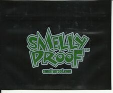 "10 SMALL SMELLY PROOF STORAGE PLASTIC BAGS. 6.5"" x 4"" SOLID BLACK"