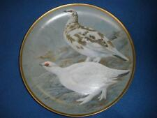 FRANKLIN MINT PORCELAIN COLLECTOR PLATE GAME BIRDS OF THE WORLD PTARMIGAN