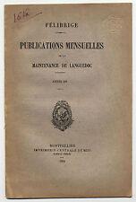 Rounsard a Toulousa Ronsard a Toulouse trilingue F/provencal/roumain 1885