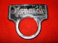 Monarch Stove Emblem Antique Kitchen Iron Porcelain Metal Sign Art Deco Badge