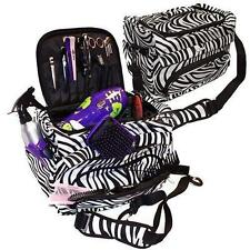 Zebra Luggage Salon Cosmetic Hairdressing Hair Tools Carry Case Kit Duffle Bag