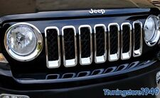 Jeep Patriot 2011-2017 Chrome Grille  Frame + Headlight Head Lamp Rims cover 9PC