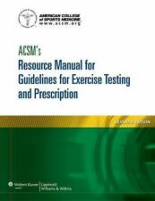 ACSM's Resource Manual for Guidelines for Exercise Testing and Prescription (Asc