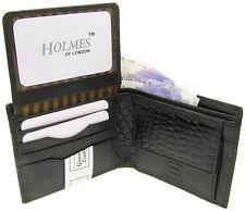 Billetera Para Hombre Negro calidad cuero suave de crédito tarjeta titular Caja De Regalo Uk Nuevos br196