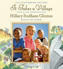 BOOK/AUDIOBOOK CD Hillary Clinton IT TAKES A VILLAGE