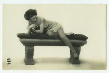 1920's Vintage French Risque n/ Nude LINGERIE FLAPPER SMOKING photo postcar